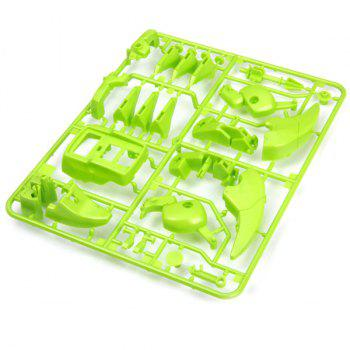 CUTE SUNLIGHT 2125 T4 Educational DIY 4 in 1 Solar Robot Kits Puzzling Toy - GREEN