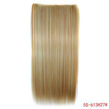 Trendy Long Straight Clip-In Heat Resistant Synthetic 613H27 Women's Hair Extension -