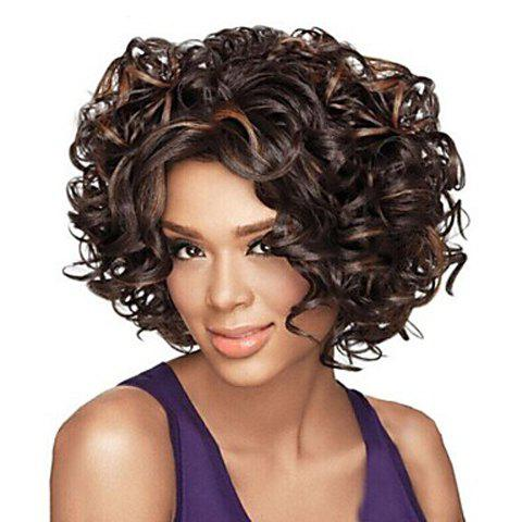 Charming Heat Resistant Synthetic Soft Curly Mix Color Capless Women's Wig - COLORMIX