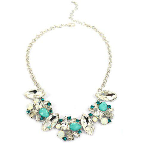 Bright Rhinestone Necklace For Women - COLORMIX