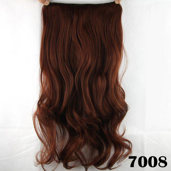Stylish Long Wavy Reddish Charming Heat Resistant Synthetic Women's Hair Extension - BROWN