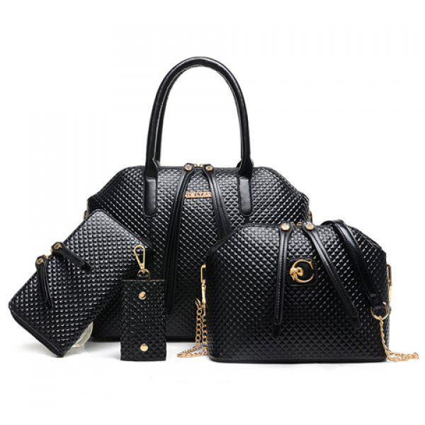 Fashionable Embossing and Zip Design Tote Bag For Women