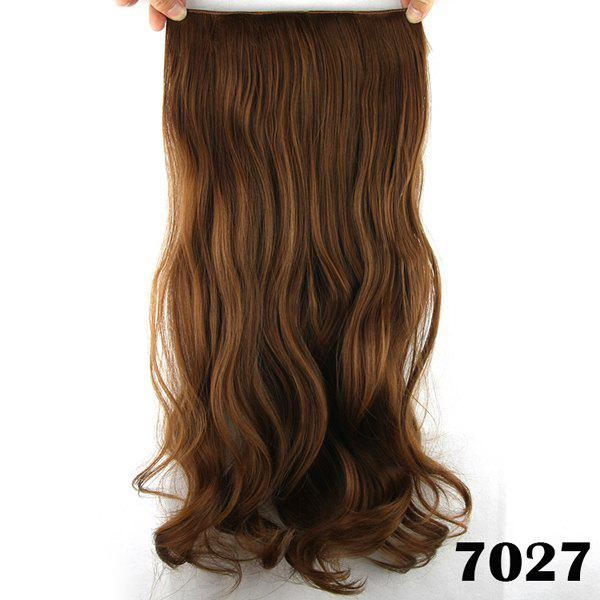 Stylish Long Loose Wave Light Brown Charming Heat Resistant Synthetic Women's Hair Extension