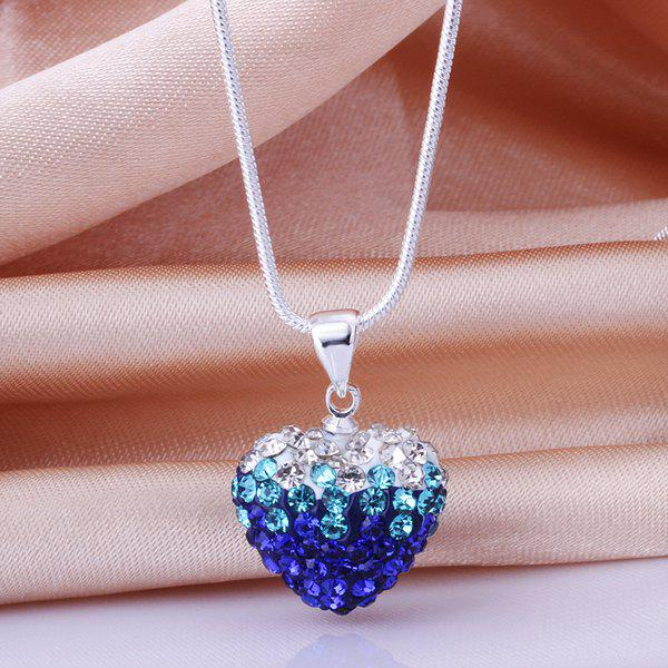 Rhinestone Heart Romantic Necklace For Women - COLORFUL