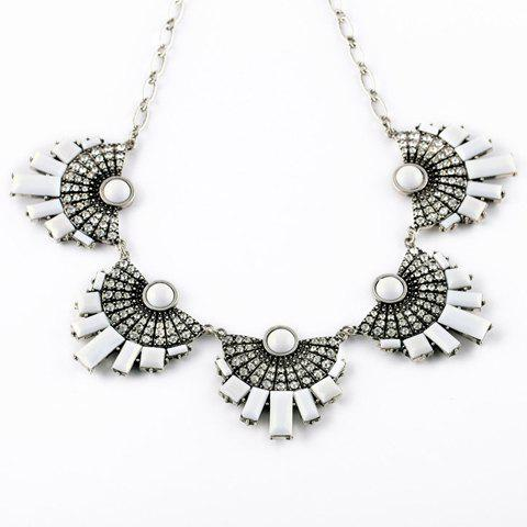 Chic Rhinestone Embellished Fan-Shaped Necklace For Women - RANDOM COLOR