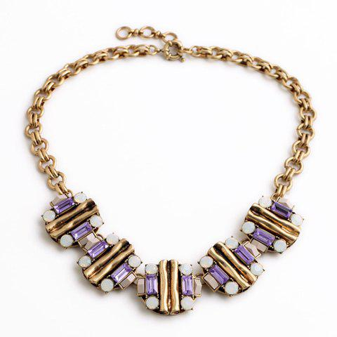 Classic Rhinestone Floral Necklace For Women