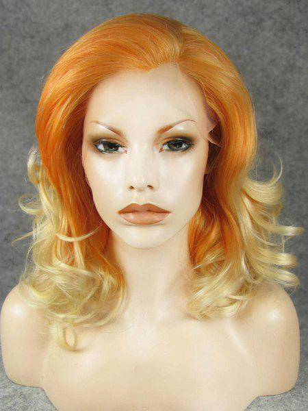 Charming Wave Orange Ombre Short Lace Front Heat Resistant Synthetic Women's Wig -
