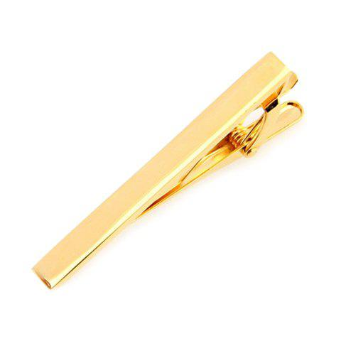 Attractive Solid Color Alloy Tie Clip For Men - GOLDEN
