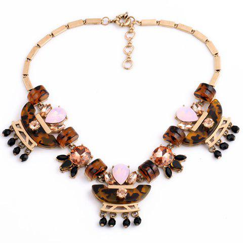 Luxury Beads Embellished Necklace For Women - GOLDEN