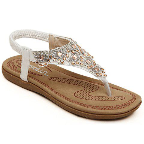 New  Women39s Sparkling Rhinestones Decoration Ankle Flat Sandals New In Box