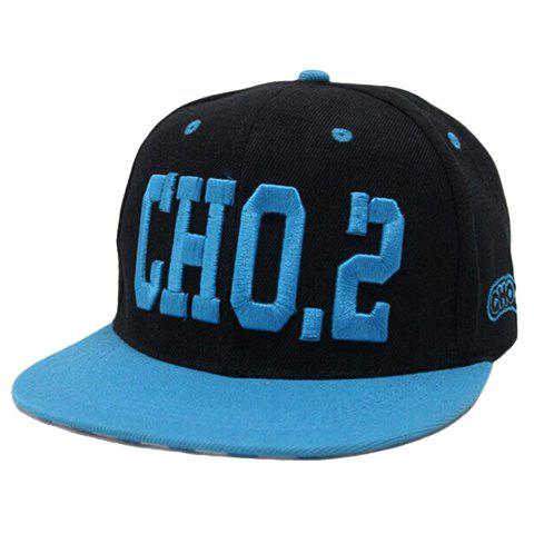 Chic Letter and Number Embroidery Baseball Cap For Women -  BLUE