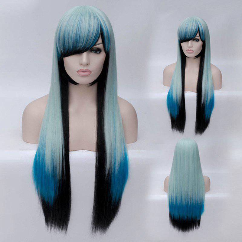 Trendy Ombre Side Bang Long Straight Charming Heat Resistant Synthetic Women's Cosplay Wig