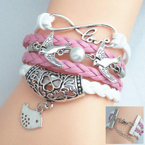 Sweet Bead Birds Weaved Layered Friendship Bracelet For Women