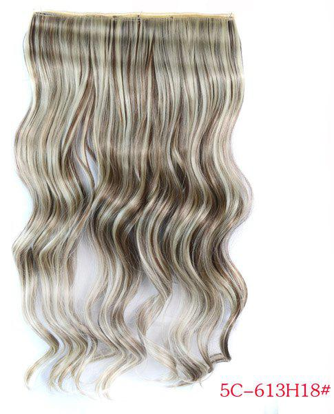 Trendy Long Wave 613H18 Clip-In Heat Resistant Synthetic Women's Hair Extension -