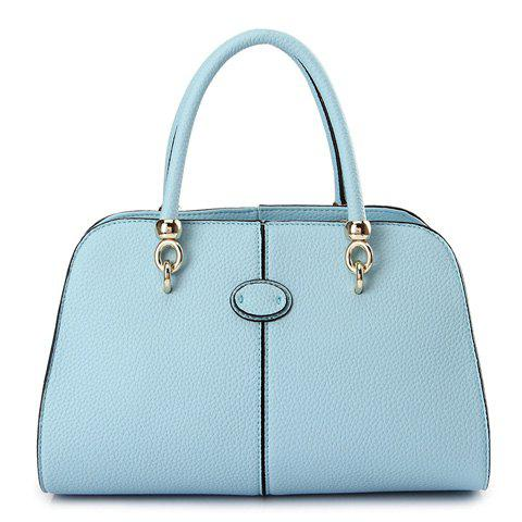 Gorgeous Candy Color and Metallic Design Tote Bag For Women - BLUE