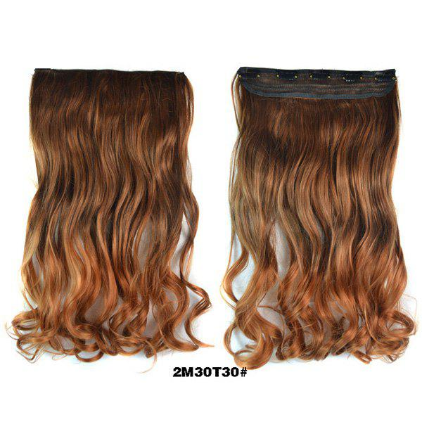 2018 Trendy Light Brown To Flaxen Long Wavy Clip In Womens Ombre