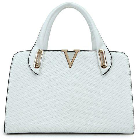 Gorgeous Striped and Metallic Design Tote Bag For Women