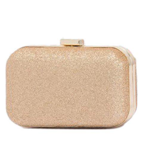 Stylish Chain and Bling Bling Design Clutch Bag For Women - GOLDEN