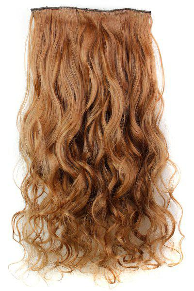 Trendy Heat Resistant Synthetic Clip-In Reddish Brown Long Curly Women's Hair Extension - BROWN