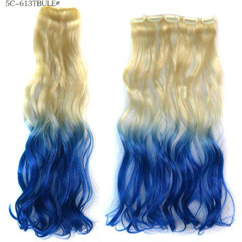 Fashion Mixed Color Long Loose Wavy Heat Resistant Women's Clip-In Hair Extension