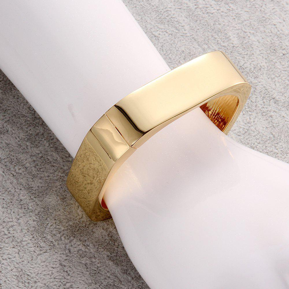 Chic Solid Color Smooth Surface Alloy Bracelet For Women - GOLDEN