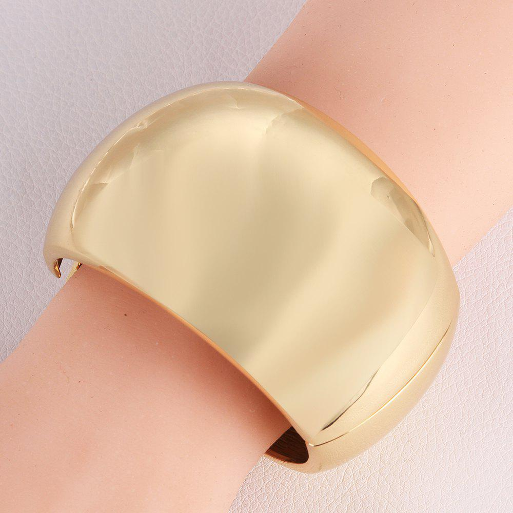 Chic Round Shape and Solid Color Design Alloy Bracelet For Women - CHAMPAGNE GOLD