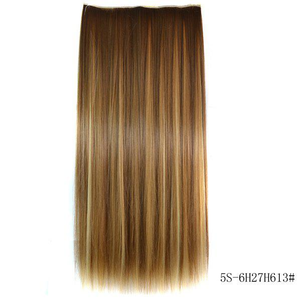 Trendy Long Straight Heat Resistant Synthetic 6H27H613 Women's Hair Extension -