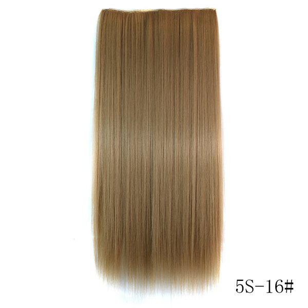 Trendy Long Straight Heat Resistant Synthetic Number 16 Women's Hair Extension -