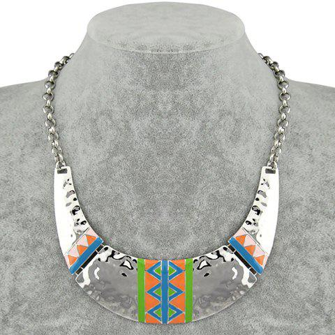 Triangle Pattern Pendant Necklace - GREEN
