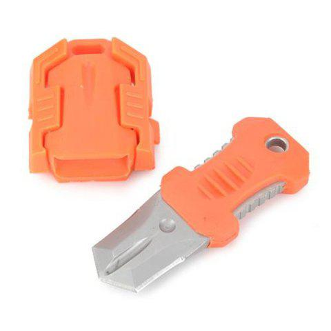 EDC Gear Multifunction Outdoor Camping 2 Full Blade Survival Knife with Webbing Buckle Style - ORANGE