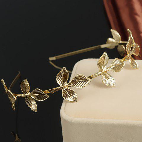 Chic Retro Style Leaf Shape Hairband For Women - GOLDEN