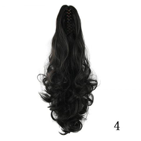 Western Style Fluffy High Temperature Fiber Long Loose Wavy Women's Claw Clip In Ponytail Hair Extension - 04