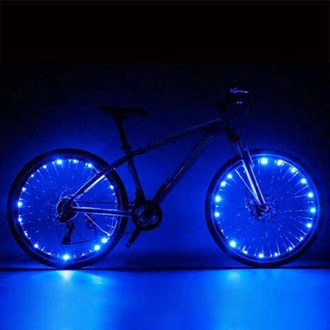 CoolChange Bicycle Mountain Bike Spokes LED Light Night Warning Wheel Wire Bulb - BLUE