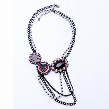 Rhinestone Embellished Heart Shape Multilayered Necklace