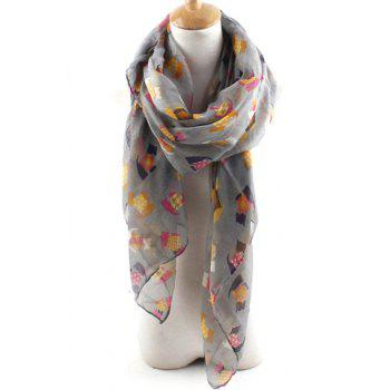 Sweet Colorful Various Cartoon Little Dog Print Thin Long Scarf For Women