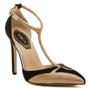 Sexy Splicing and Rhinestones Design Pumps For Women