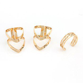 3PCS Chic V Shape Rings For Women