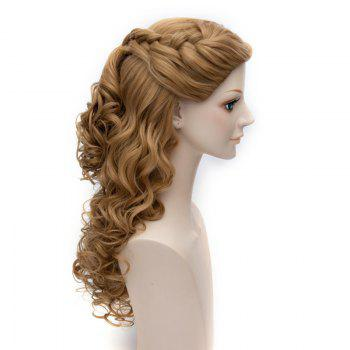 Popular Cinderella Cosplay Elegant Charming Flaxen Long Jerry Curly With Braids Costume Wig -