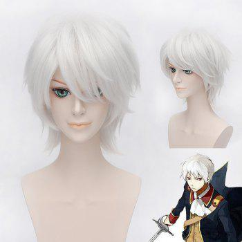 Trendy Side Bang Short Straight Silvery White Fluffy Charming Gilbert Beilschmidt Cosplay Wig
