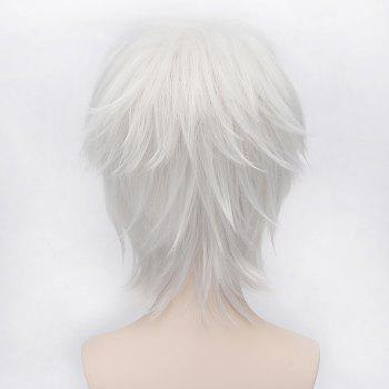 Trendy Side Bang Short Straight Silvery White Fluffy Charming Gilbert Beilschmidt Cosplay Wig -