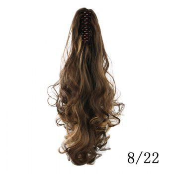 Western Style Fluffy High Temperature Fiber Long Loose Wavy Women's Claw Clip In Ponytail Hair Extension