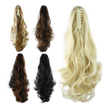 Western Style Fluffy High Temperature Fiber Long Loose Wavy Women's Claw Clip In Ponytail Hair Extension - P