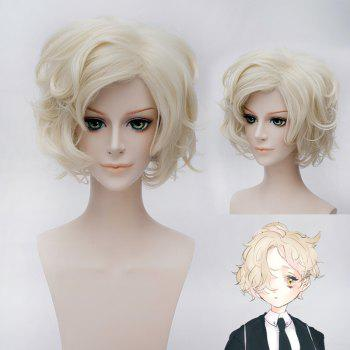 Trendy Short Wavy Light Blonde Fluffy Stunning Gokotai Cosplay Wig