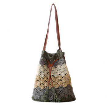Fashion Weaving and Color Matching Design Shoulder Bag For Women