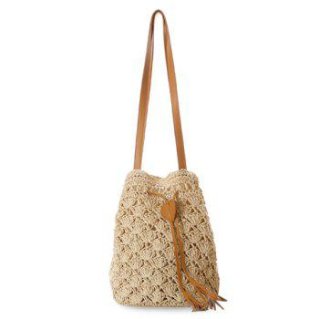 Laconic Weaving and Tassels Design Shoulder Bag For Women