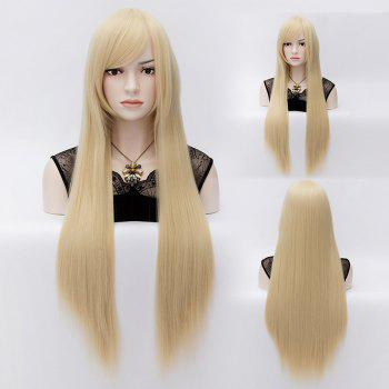 Trendy Long Straight Side Bang Light Blonde Stunning Yukinokouji Nobara Cosplay Wig
