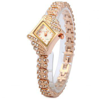 Golou G021 Luxury Diamond Leaf-shaped Steel Strap Ladies Quartz Watch Bracelet