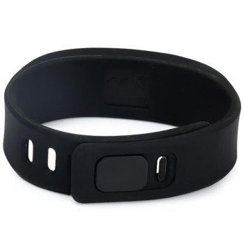 HZ55 LED Sports Watch with Red Subtitles Date Display Rubber Strap Rectangle Dial - BLACK