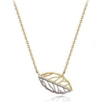 Delicate Solid Color Openwork Leaf Necklace For Women