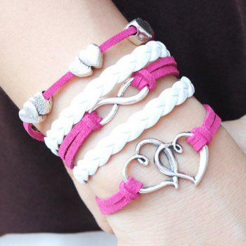 Layered Hollowed Heart Design Infinity Bracelet
